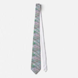 Green Purple Mermaid Pastel Pattern Tie