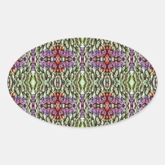 green purple orange pattern stickers