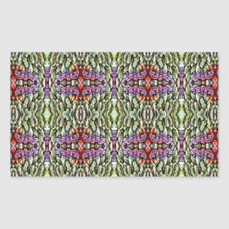 green purple orange pattern rectangle sticker