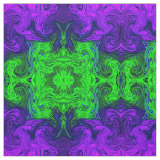 Green purple textured abstract print fabric