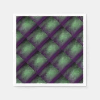 Green Purple Tiled Disposable Napkins