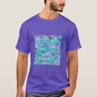 Green Purple Watercolor Men's Basic T-Shirt