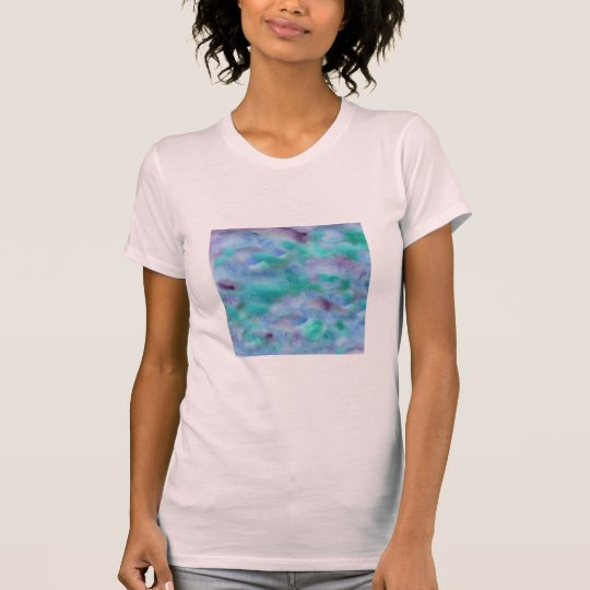Green Purple Watercolor Women's Jersey T-Shirt