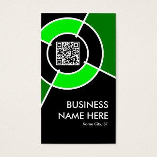 green QR code and logo target Business Card