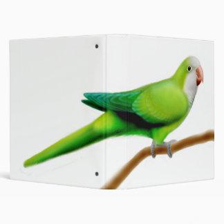 Green Quaker Parrot Avery Binder