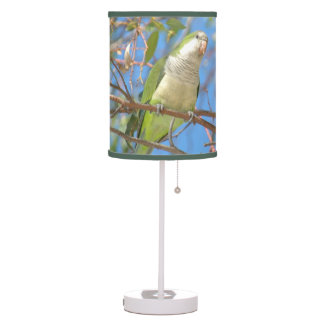 Green Quaker Parrot Table Lamp