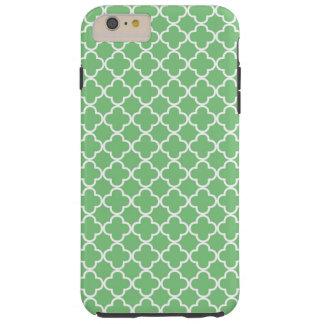 Green Quatrefoil Pattern Tough iPhone 6 Plus Case