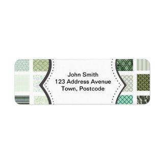 Green quilt mosaic pattern