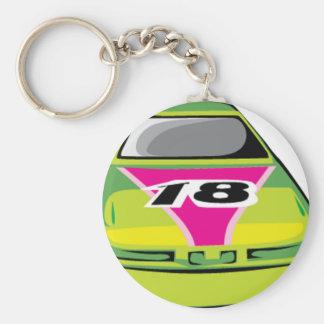 green race car key chain