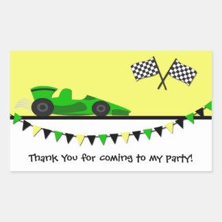 Green Race Car Sticker
