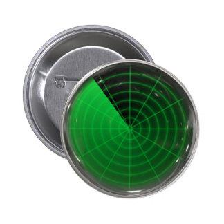 green radar pattern 2 inch round button