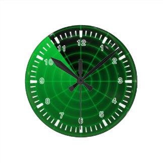 green radar pattern round clock