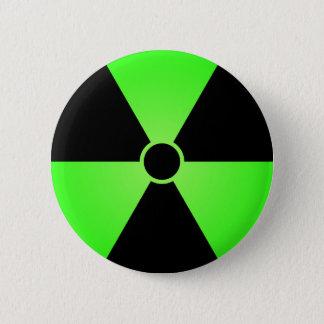 Green Radiation Symbol 2 Inch Round Button