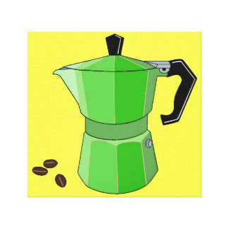 Green Rainbow Espresso Canvas Print