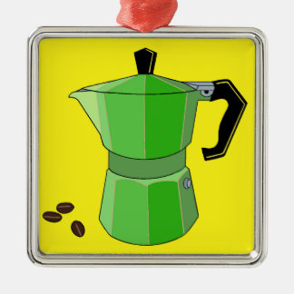 Green Rainbow Espresso Metal Ornament