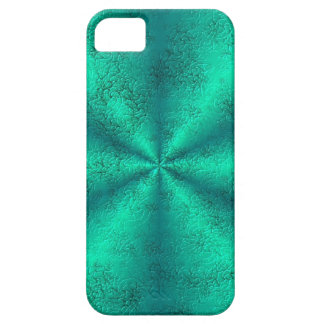 Green Rainbow in elephant Skin Leather Optic iPhone 5 Cover
