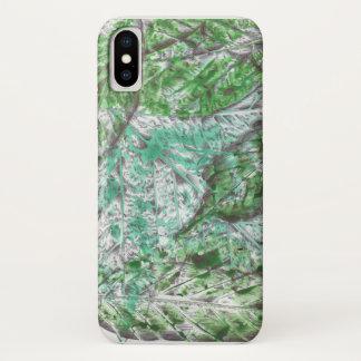 Green Rainforest-style Leaf Print iPhone Case