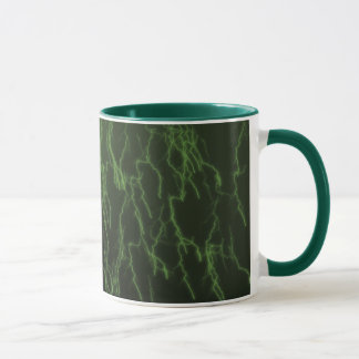 Green Raining Lightning Mug