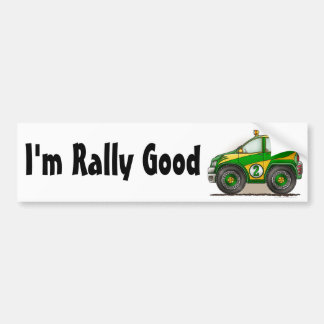 Green Rally Car I'm Rally Good Bumper Sticker