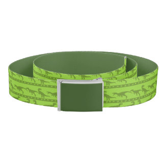 Green Raptor Pattern Belt