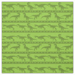Green Raptor Pattern Fabric
