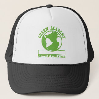 Green Recycle Academy Trucker Hat