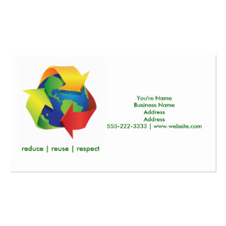 Green Recycle Earth Day Green Business Cards