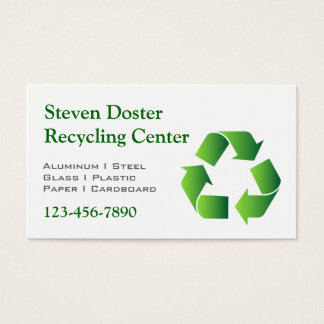 Green Recycle Symbol Business Card