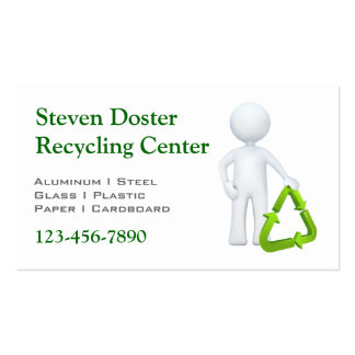 Green Recycle Symbol & Man Pack Of Standard Business Cards