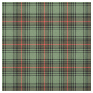 Green, Red and Black Vintage Plaid Fabric