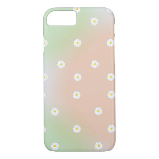 Green Red and Blue Daisy Floral Pattern iPhone 7 Case