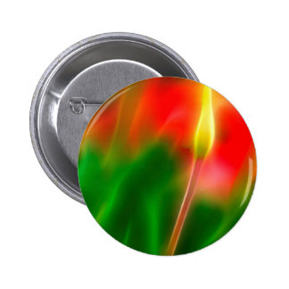 Green, Red and Yellow Tulip Glow 2 Inch Round Button