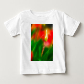 Green, Red and Yellow Tulip Glow Baby T-Shirt