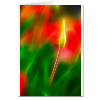 Green, Red and Yellow Tulip Glow Card