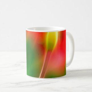 Green, Red and Yellow Tulip Glow Coffee Mug