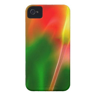 Green, Red and Yellow Tulip Glow iPhone 4 Case