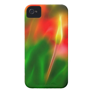 Green, Red and Yellow Tulip Glow iPhone 4 Cover