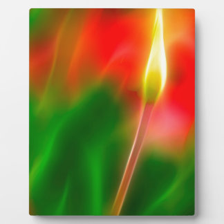 Green, Red and Yellow Tulip Glow Plaque