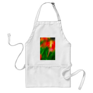 Green, Red and Yellow Tulip Glow Standard Apron
