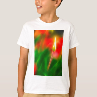 Green, Red and Yellow Tulip Glow T-Shirt
