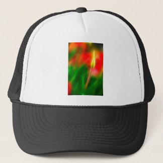 Green, Red and Yellow Tulip Glow Trucker Hat