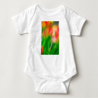 Green Red and Yellow Tulip Sketch Baby Bodysuit
