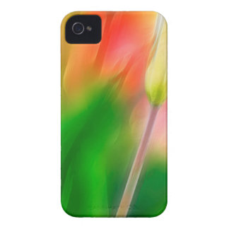 Green Red and Yellow Tulip Sketch Case-Mate iPhone 4 Case