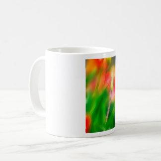 Green Red and Yellow Tulip Sketch Coffee Mug