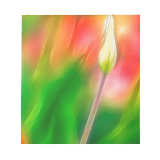 Green Red and Yellow Tulip Sketch Notepad