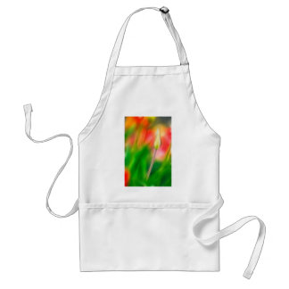 Green Red and Yellow Tulip Sketch Standard Apron