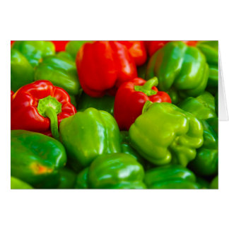 Green Red Bell Peppers City Farmer's Market KC Card