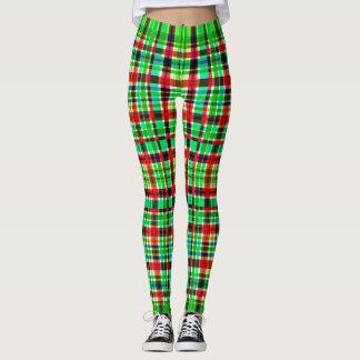 Green & Red checkered Leggings