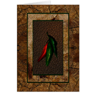 Green & Red Chili Peppers Card