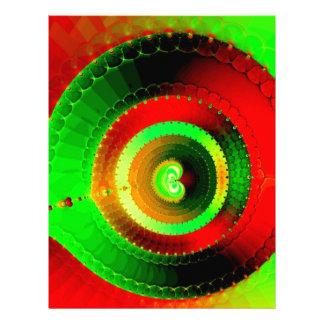 Green Red Circle Fractal Letterhead